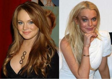 Lohan before and after drugs