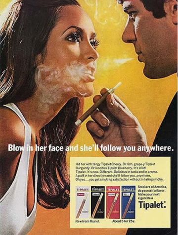 Smoke in Woman's Face