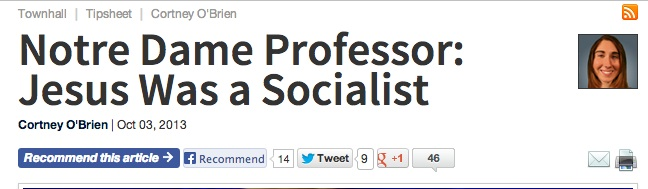 Jesus was a socialist - Townhall