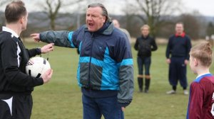 Ray Winstone angry at kid playing soccer