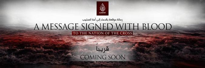 a message signed with blood to the nation of the cross