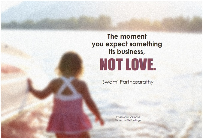 the moment you expect something its business not love
