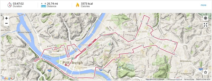 Pittsburgh Marathon Route