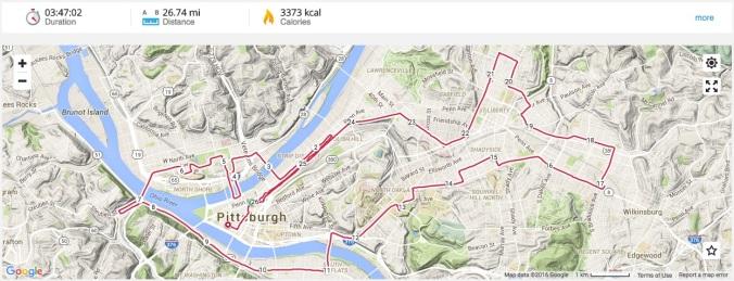Pittsburgh Marathon Route