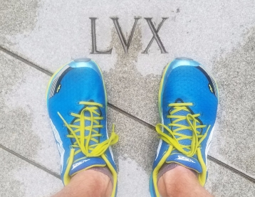 shoes beside word lux